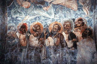 A 14C fresco in Michael Archangelos Church, Sarakina SARAKINA (Village) PELEKANOS